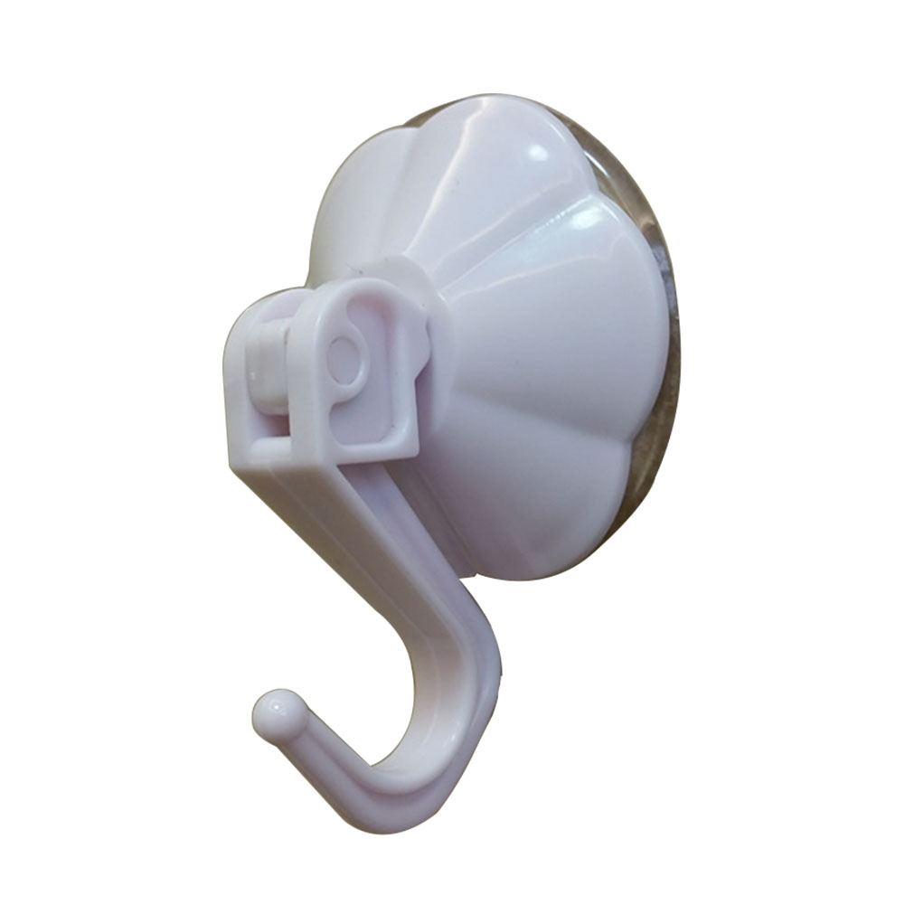 Easy Use Bathroom Durable Heavy Duty Flower Shape Vacuum Suction Cup No Drilling Hanging Hook Simple Powerful Home Mini