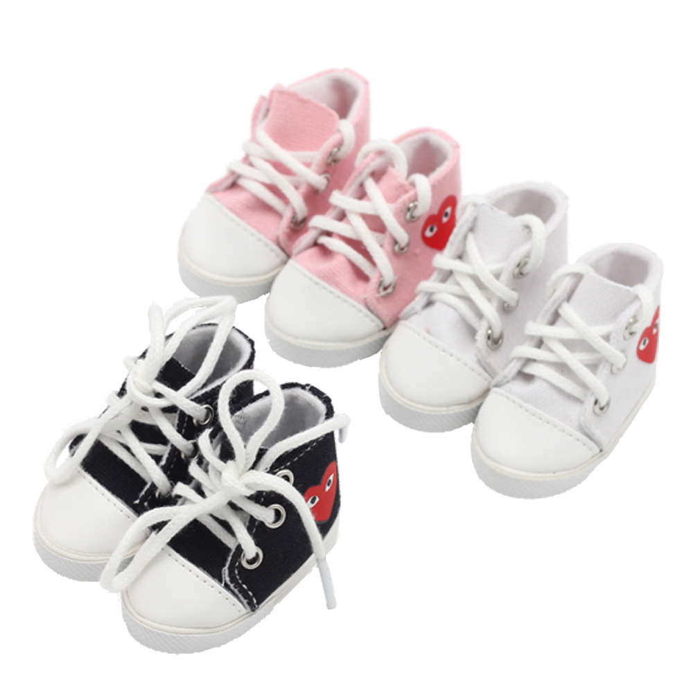 1 Pair 5.5*2.8cm Canvas Shoes For 14.5inch Baby Girl BJD Doll Fashion EXO Dolls Shoes For Russian DIY Handmade Doll Accessories