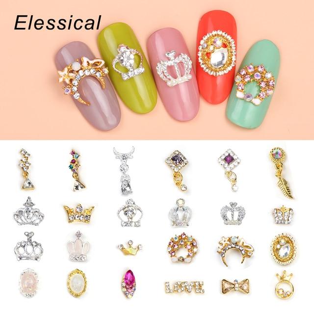 10Pcs/Lot Fashion Design Nail Art Glitter Rhinestone Dangle Nail ...