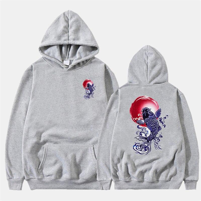 Newest Japanese Funny Cat Wave Printed Fleece Hoodies 19 Winter Japan Style Hip Hop Casual Sweatshirts KODAK Streetwear 10