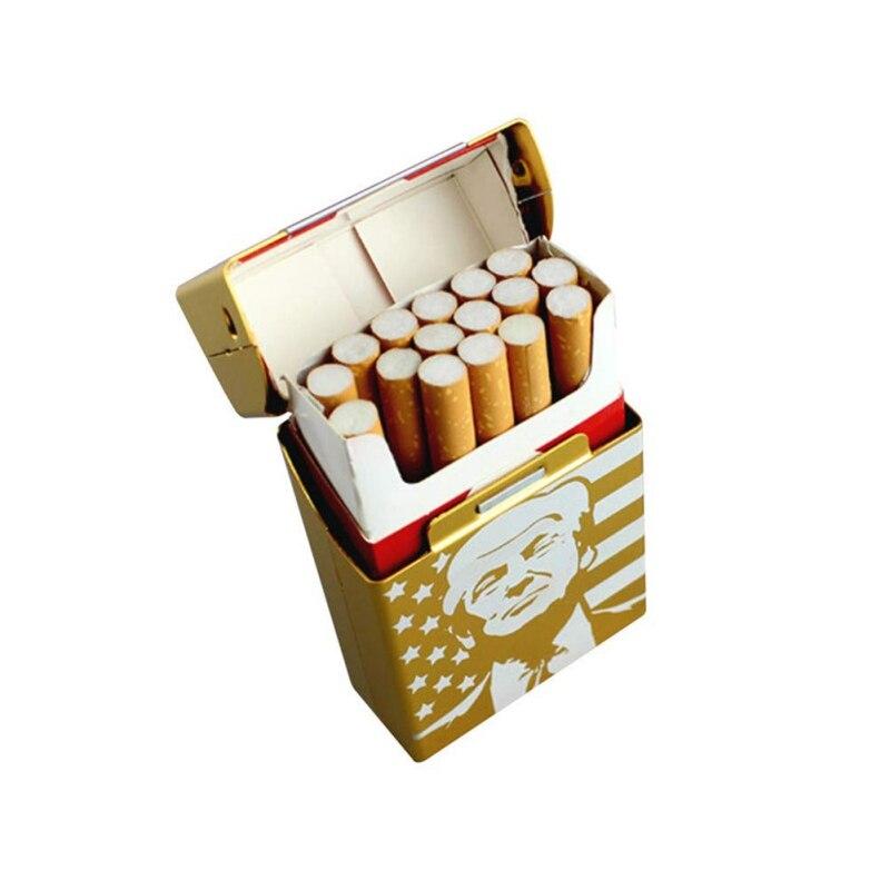 1 шт. Trump курительные сигареты, автомобильные аксессуары, алюминиевый портсигар, карманное хранилище для сигар, подарок, автомобильные аксес...