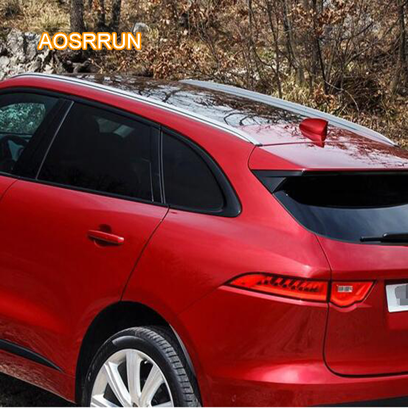 AOSRRUN The roof rack of aluminum alloy luggage rack is free of punch Cover Car Accessories For Jaguar F-PACE 2017 2018 free of punch auto parts refitting the roof rack of aluminum alloy luggage rack for suzuki swift 1 3m accessories