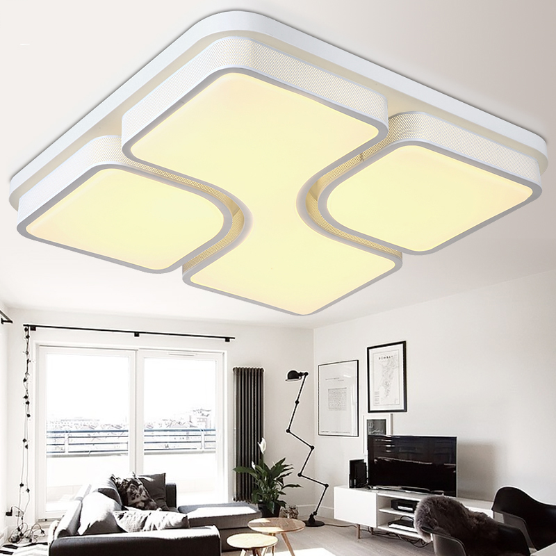 Modern led ceiling lights for living room bedroom lamparas de techo modern led light fixture ceiling lamp luminaire plafonnier modern led ceiling lights for indoor lighting plafon led square ceiling lamp fixture for living room bedroom lamparas de techo