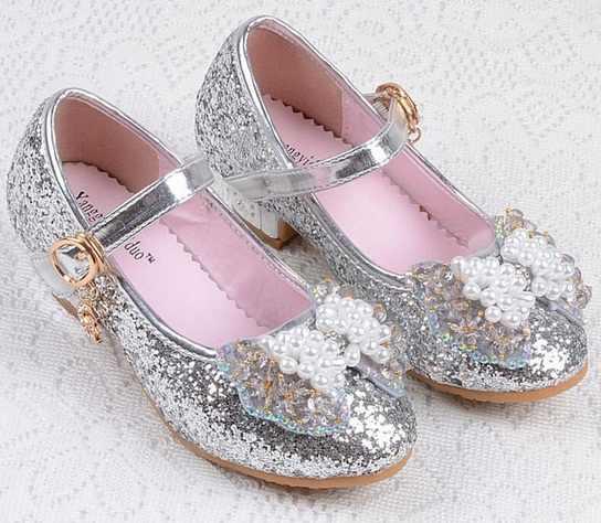 1c3564bde6 2017 NEW girls high heels children princess flower fashion pumps kids pink  school wedding dance shoes