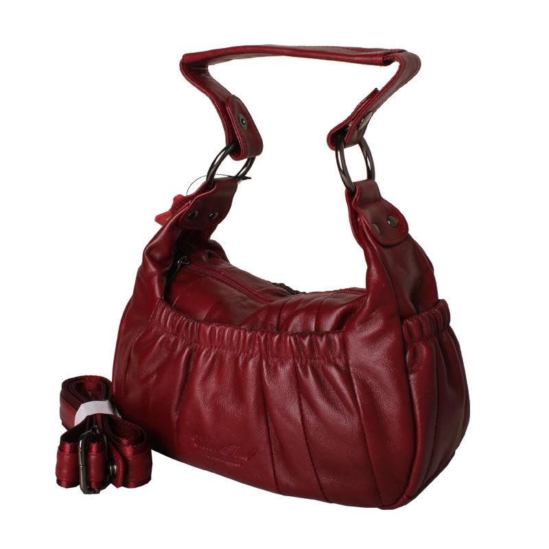 Women\'S Genuine Leather Handbag Women Cow Leather Handbags Women Messenger Bucket Shoulder Bag Bolsas Feminina