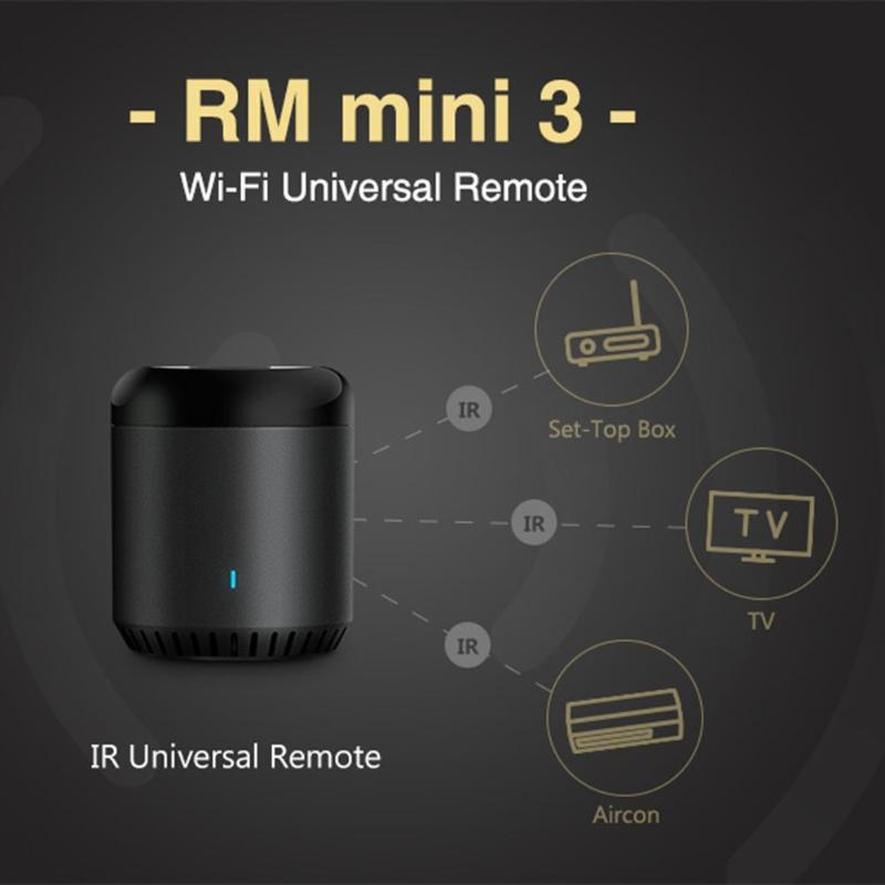 ALLOYSEED RM Mini 3 Universal WiFi IR Wireless Smart Home Remote Controller for DVD/IPVT/TV Air Conditoning Timer Switches
