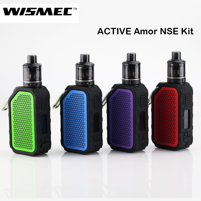 Original Wismec Active Bluetooth Music TC Kit with 2100mAh Battery AMOR NSE Tank 3ML Electronic Cigarette Vaporizer Vape Kit original wismec active bluetooth music tc box mod with 2100mah built in battery