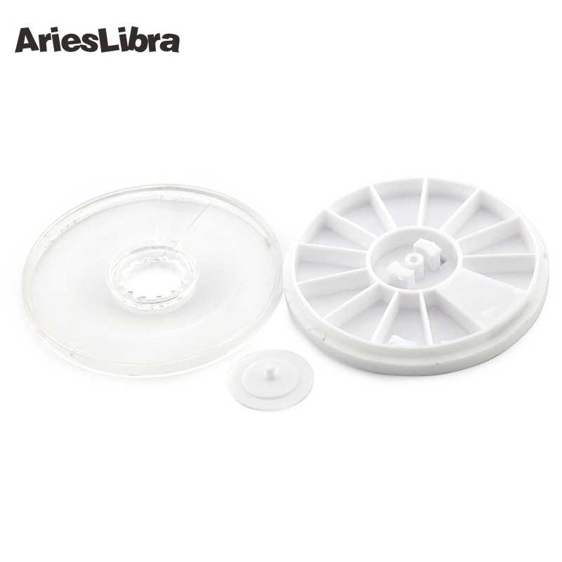 Arieslibra 1 PC Putih Nail Art Kosong Putaran Roda Perhiasan Rhinestone Kontainer Kotak Manik-manik Kristal Permata Pemegang Penyimpanan Case Alat