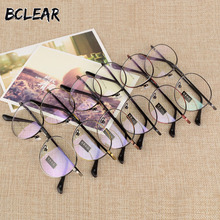 Fashion male and female retro round frame glasses flat glass optical S801