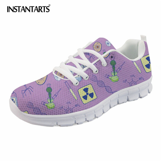 INSTANTARTS Biology Lovers Pattern Sport Running Shoes for Women Men  Lightweight Lacing Outdoor Sneakers Girls Boys 5498b41753