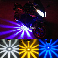 Motorcycle Laser Lights Tail Light Fog Lamp Car Parking Stop Tail Brake Spotlight With Bracket