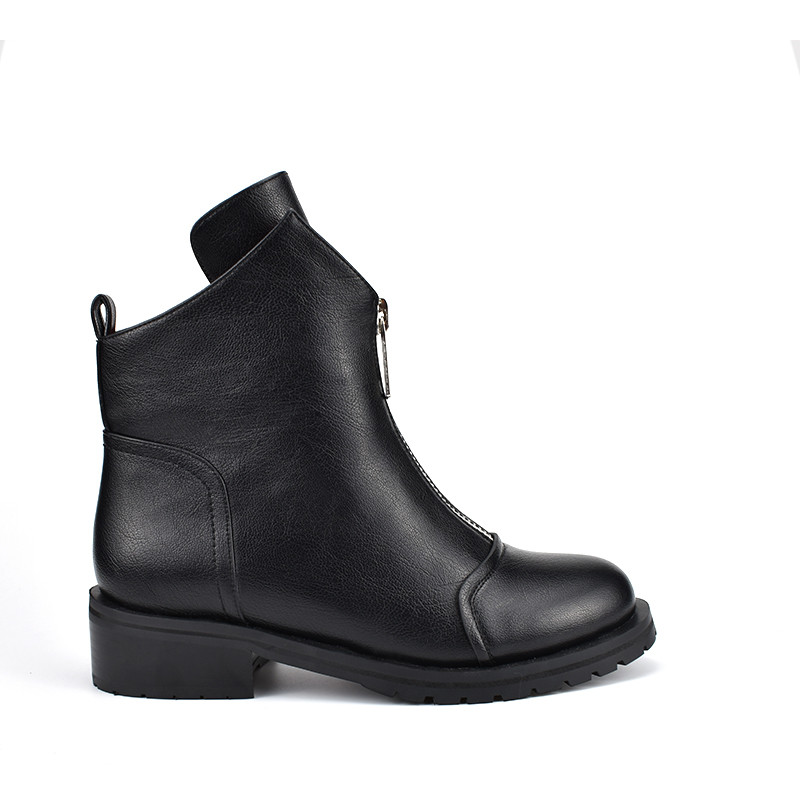 Image 3 - MORAZORA 2020 new fashion shoes woman ankle boots simple zipper comfortable  boots square heels autumn winter boots-in Ankle Boots from Shoes