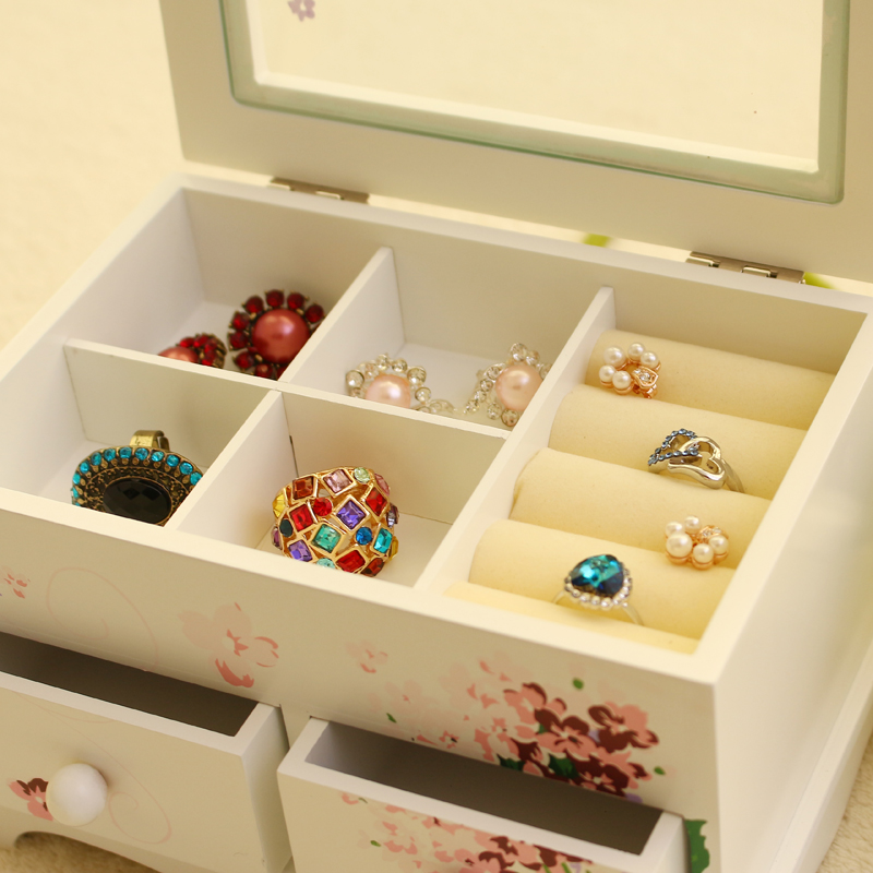 Y83 Custom Jewelry Makeup organizer E0 E1 MDF Wooden Storage box Beautiful Design box Jewelry for displaySupport-in Makeup Organizers from Home u0026 Garden on ... & Y83 Custom Jewelry Makeup organizer E0 E1 MDF Wooden Storage box ...