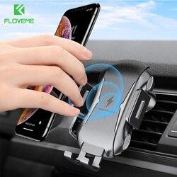 FLOVEME bezprzewodowa ładowarka samochodowa do Samsung Note 10 S10 S8 S9 szybkie bezprzewodowe ładowanie USB ładowarka samochodowa do iPhone X XS Max XR 8 Plus