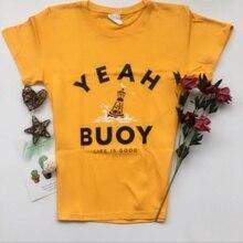 7a86ff79a4c kuakuayu-JBH 1PCS Yeah Buoy Life Is Good Black T-shirt for Men and