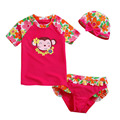 Two Pieces Girls Short Sleeve Swimsuits Bikinis Set Baby Kids Swimming Bathing Suit Summer Beach Cartoon Children's Swimwear