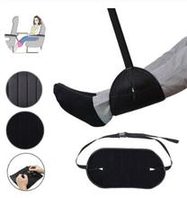 Portable Comfy Hanger Travel Airplane Footrest Hammock Made with Premium Memory Foam Foot Resting for Office