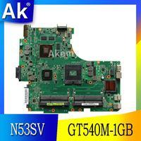 AK N53SV Laptop motherboard für For Asus N53SV N53SN N53SM N53S N53 Test original mainboard GT540M-1GB