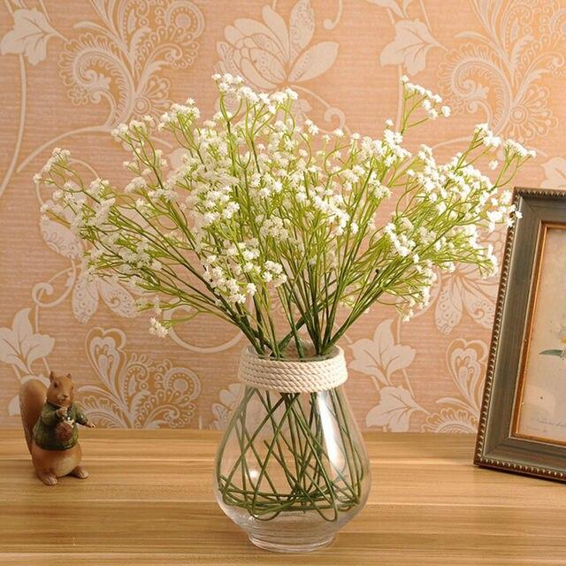 Новогодние искусственные семена растений (Гипсофила) Gypsophila шелковые цветы Свадебный букет вечерние украшения Декор