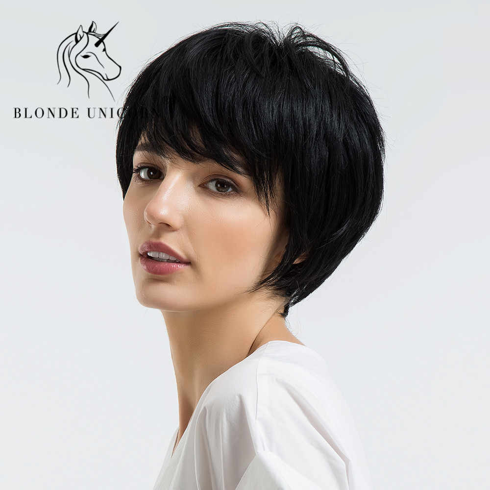 Blonde Unicorn 8 Inch Short Straight Hair Wig With Bangs