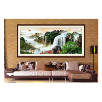 New Diy 5d Rhinestones Full Square Drill Mosaic Diamond Painting Cross Stitch Kits Diamond Embroidery Waterfall Scenic Handcraft