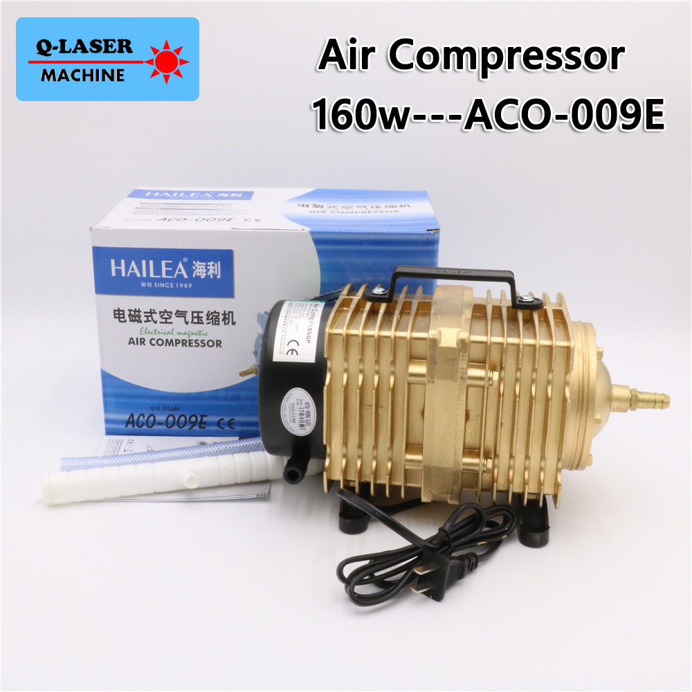 160W Air Compressor Electrical Magnetic Air Pump ACO 009E for CO2 Laser Engraving Cutting Machine