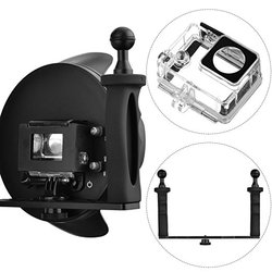 Dome Port 6 inch Upgraded V3.0 Transparent Housing Dome with Handheld Tray Stabilizer for GoPro Hero 3+/4 Black Silver Camera