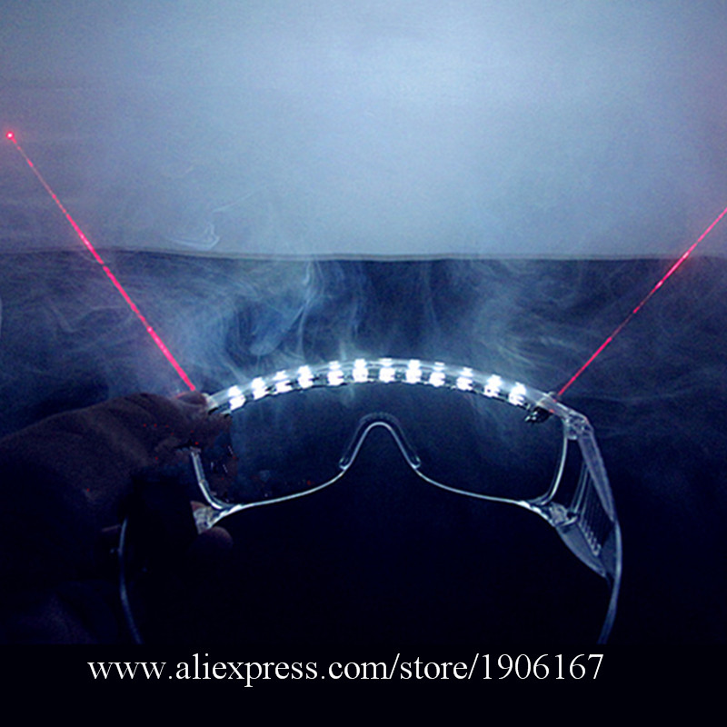 Party Supplies Christmas Halloween Decoration Led Luminous Red Laser Glasses Laserman Growing Light Up Glasses For Laser Show