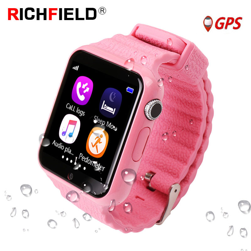 V7k Kids Smart Watch GPS Global Location Baby Child Watch Phone Finder Tracker Camera Anti lost SOS Safe Voice Call PK Q50 Q90-in Smart Watches from Consumer Electronics
