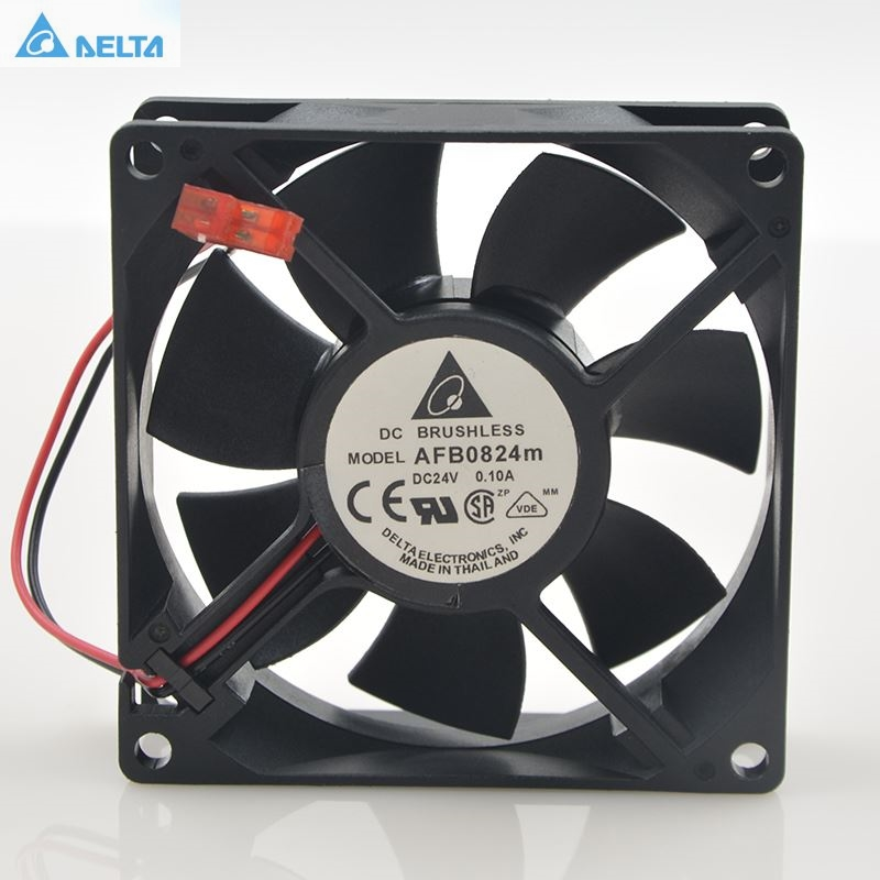 For Delta AFB0824M 8025 24V 0.10A 8CM For Delta Inverter Converter Cooling Fan