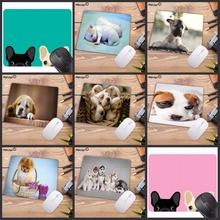 Mairuige Promotion Russia Cute Dog Small Mouse Pad Office Creativity Mouse Mat Gaming Mouse Pad 220X180X2MM Computer Mousepad