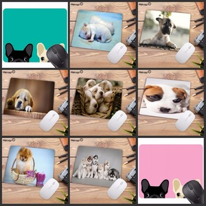 Image 1 - Mairuige Promotion Russia Cute Dog Small Mouse Pad Office Creativity Mouse Mat Gaming Mouse Pad 220X180X2MM Computer Mousepad
