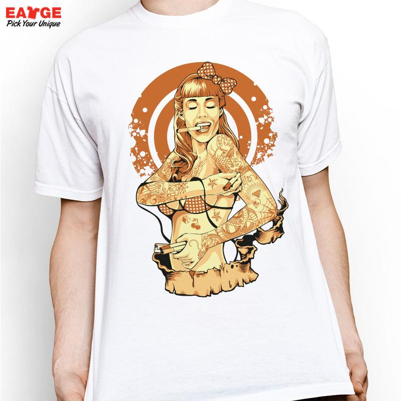 Sexy Tattoo Girl T Shirt Design Inspired By Nude T-shirt Style Cool Fashion Casual Novelty Funny Tshirt Men Printed Tee