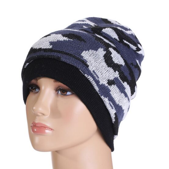 2017 New Fashion Camouflage Hats for Men and Women Winter Hat Knitted Beanies For Men Bonnet Gorros Para os Homens HT51035+20 2016 new fashion letter gorros hats bonnets