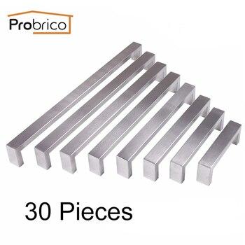 Probrico Rectamgle T Bar Handles Kitchen Cupboard Wardrobe Closet Door Furniture Handles Pulls Knobs 96mm~320mm Stainless Steel