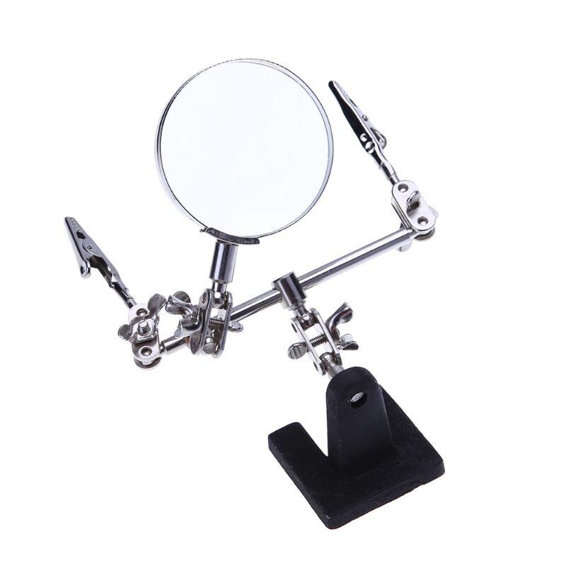 Universal Clamp Form Magnifying Glass Desktop Magnifier Phone Repair Platform Station Holder Soldering Repair Tool
