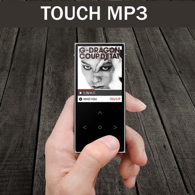 Nueva benjie x1 pantalla táctil mp3 player fm radio record Ebook Música Sin Pérdida APE FLAC Reproductor de Audio Digital 8 GB 100 horas reproducción