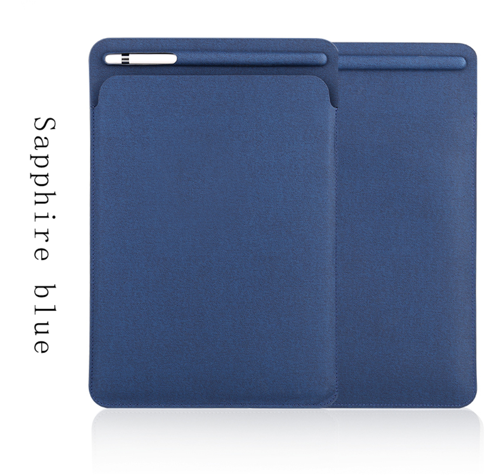 PU Leather Sleeve Case For Ipad Pro 9.7 Pouch Bag Cover With Pencil Slot For Ipad Pro 9.7 2017 Leather Protective Bag Case