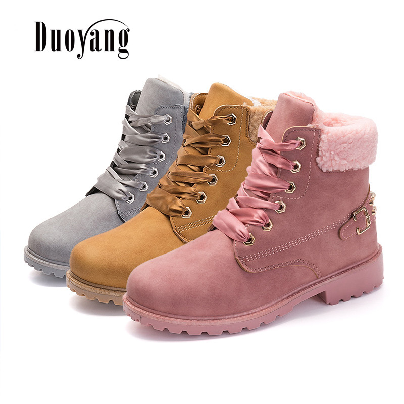 2018 fashion snow boots women shoes female Women boots warm plus velvet winter ankle boots цены онлайн