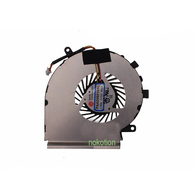 NOKOTION laptop notebook CPU Cooling Fan fit For MSI GE62 series notebook PAAD06015SL 3pin 0.55A 5VDC N303 100% brand new cpu cooling fan for msi hd7750 graphics card fan pla09215b12m