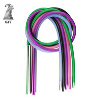 SY High Quality Total Length 1 85m Hookah Hose Set 355mm Aluminum Stem With Silicone Hose