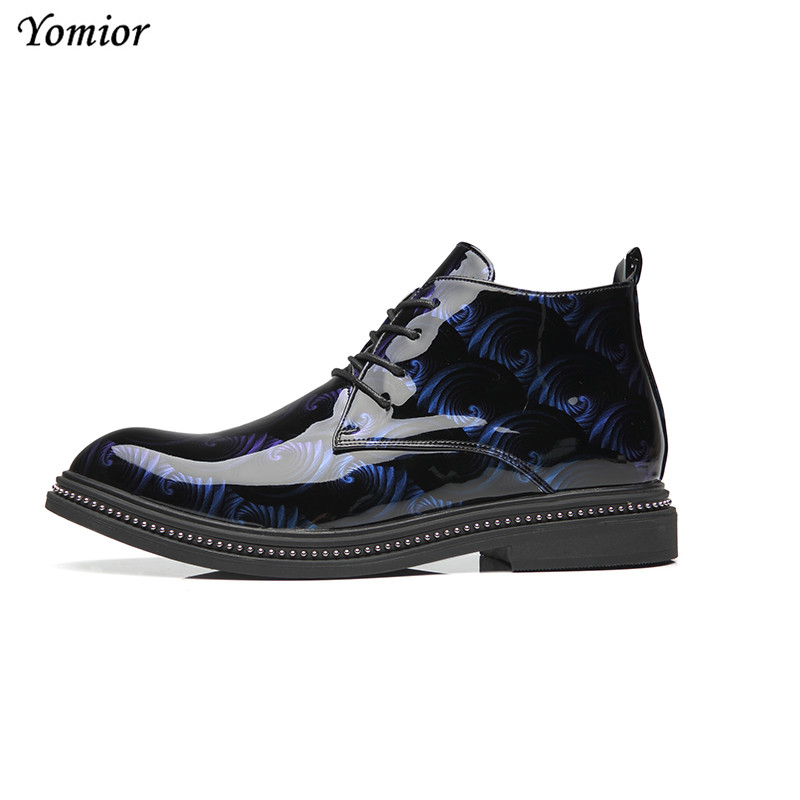 Yomior Autumn Winter Men Leather Boots British Fashion Pointed Toe Casual Shoes Platform High Quality Comfortable Ankle Boots - 4