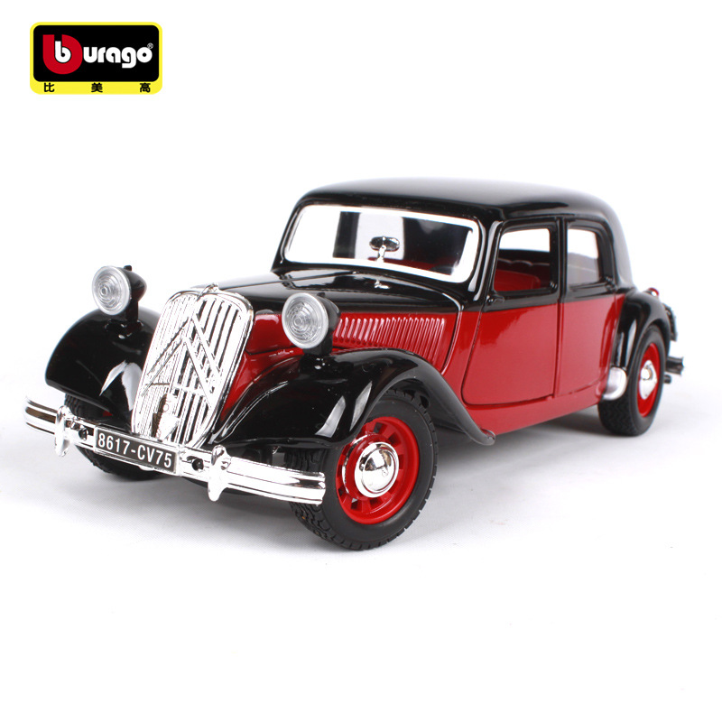 1 24 1938 citroen 15 cv alloy model cars citroen vintage car simulation
