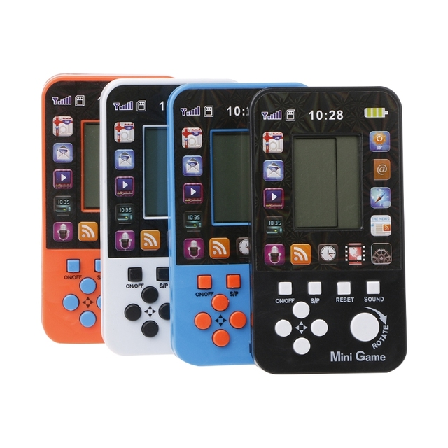 US $2 14 15% OFF|LCD Electronic Classical Tetris Brick Game Machine Pocket  Puzzle Toy Phone Shape-in Handheld Game Players from Consumer Electronics