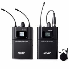 Acemic DV-100 Transmissor Receptor de Microfone Sem Fio Microfone para DSLR Camera DV, Pro Sistema De Áudio Gravação de Entrevista de Tiro