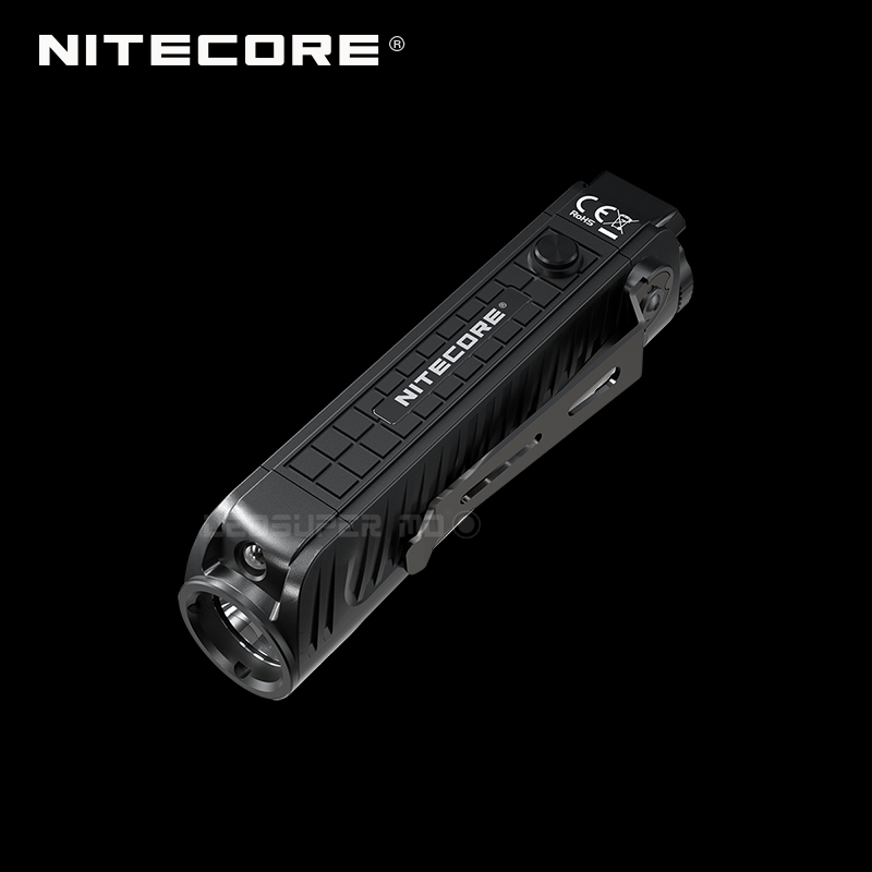 1800 Lumens Nitecore P18 Unibody Die case Futuristic CREE XHP35 HD LED Tactical Flashlight with Auxiliary Red Light