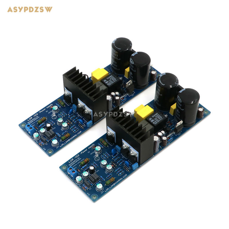 2 PCS L15D-POWER Digital power amplifier L15D (2 channel) amplifer board IRS2092 IRFB4019 With power protection irs2092 irfb4019 class d power amplifier board speaker relay protection 300w