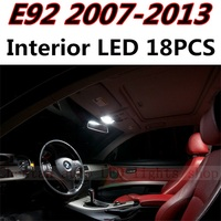 18pcs X Free Shipping Error Free LED Interior Light Kit Package For Porsche BMW E92 Coupe