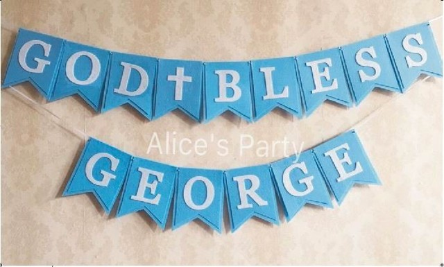handmade baby shower bunting personalized boy name birthday garlands