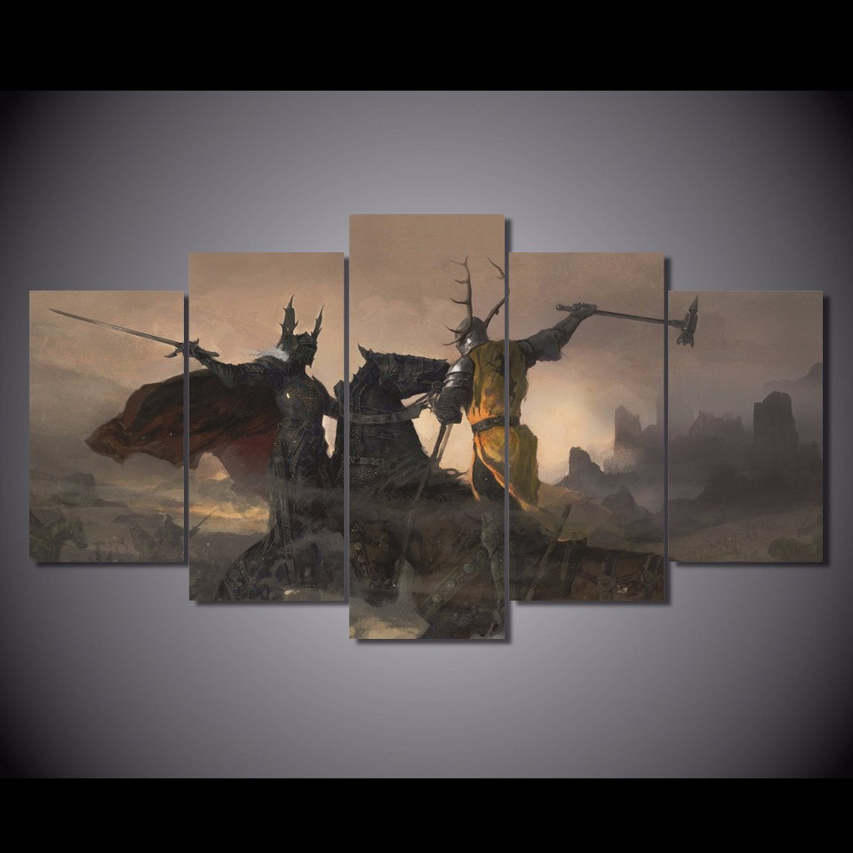 5 Teile/satz Gerahmte HD Gedruckt Game of Thrones Bild Wandkunst ...